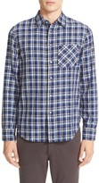 Rag & Bone Men's Plaid Beach Trim Fit Double Face Sport Shirt