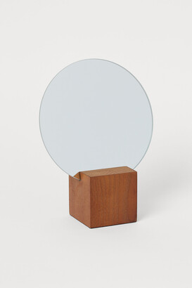 H&M Small mirror on a wooden base