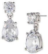 Marchesa Double-Drop Pear-Shaped Cubic Zirconia Earrings