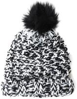 David & Young Feather Yarn Hat