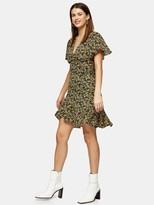 Topshop Idol Ditsy Mini Tea Dress - Multi