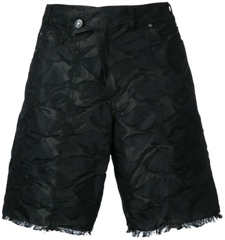 A.F.Vandevorst Crumpled Frayed Shorts