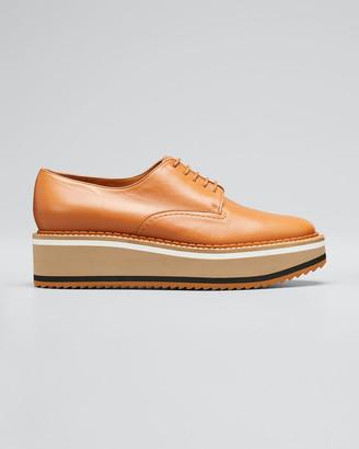 Clergerie Berlin Leather Platform Derby Shoes
