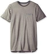 Levi's Men's Luke Speckled Snow Jersey Stripe Short Sleeve Shirt