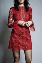 Saylor Red Long Sleeve Dress