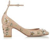 Valentino Tango star-embellished leather pumps