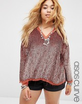 Asos Sequin Sweat Top