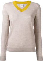Paul Smith bicolour V-neck jumper - women - Wool - S