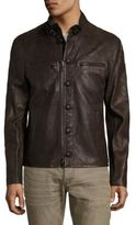 John Varvatos Tanned Leather Jacket