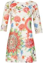 Izabel London *Izabel London Multi White Floral Shift Dress