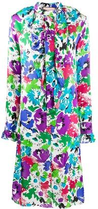 Plan C Floral Print Midi Dress