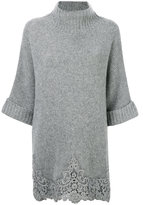 Ermanno Scervino cropped sleeves jumper - women - Acrylic/Polyester/Cashmere/Wool - One Size