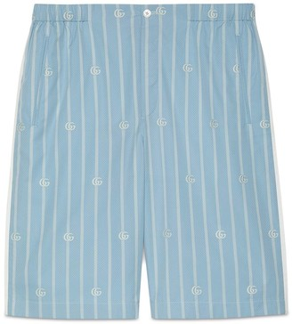 Gucci Double G stripe cotton shorts