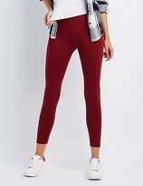 Charlotte Russe Solid Stretch Cotton Leggings