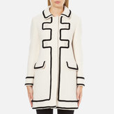Moschino Women's Long Contrast Lightweight Coat White
