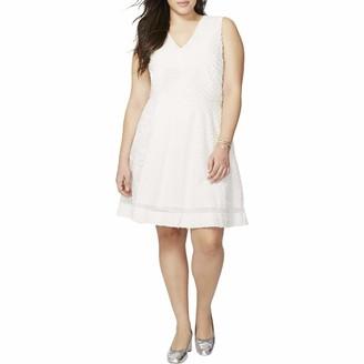 Rachel Roy Women's Plus Size Mixed Media Dress