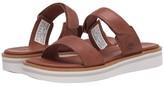 Timberland Adley Shore 2-Band Slide (Medium Brown Full Grain Leather) Women's Shoes