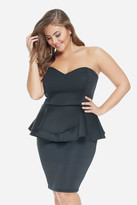 Fashion to Figure Fury Strapless Peplum Dress