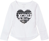 XOXO White 'XOXO' Sequin-Heart Tee - Girls