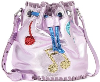 Stella Mccartney Kids Glitter-trimmed bucket bag