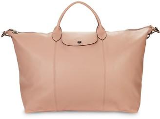 Longchamp Le Pliage Leather Collection Foldable Travel Bag