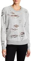 Sweet Romeo Distressed Looped Knit Sweatshirt