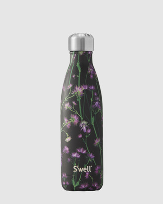 Swell Black Water Bottles - Insulated Bottle Flora & Fauna Collection 500ml Thistle - Size One Size at The Iconic
