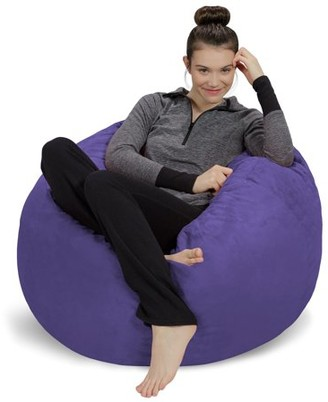 Sofa Sack 3' Passion Suede Bean Bag Chair, Multiple Colors