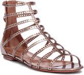 Alaia Metallic laser-cut leather sandals