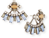 Dannijo Sorrento Crystal Jacket Earrings, Multi