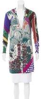Etro Abstract Print Silk Cardigan