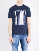 Armani Jeans Barcode cotton T-shirt