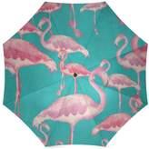 Flamingo Umbrella Christmas/Thanksgiving Gift Beautiful Flamingo Pattern Foldable Sun/Rain Umbrella Sunshade Parasol