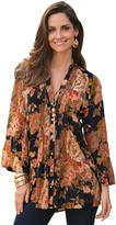 Together Women's Print Crinkle Blouse
