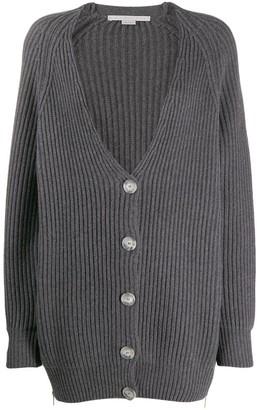 Stella McCartney V-neck cable knit ribbed cardigan
