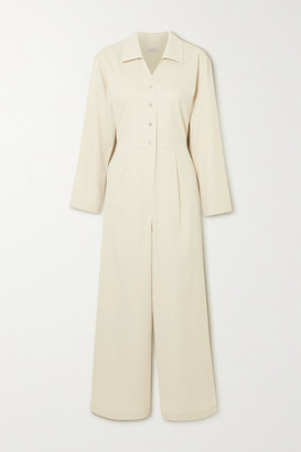 LE 17 SEPTEMBRE Pleated Crepe Jumpsuit - Off-white