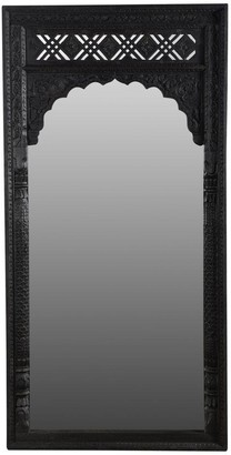 Empress Homewares Marwah Carved Leaner Mirror Black Wash