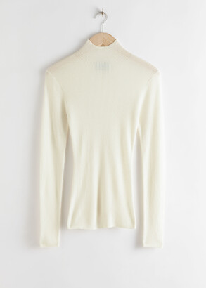 And other stories Ribbed Knit Wool Turtleneck