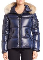 SAM. Puffer Jacket with Fur Trim