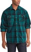 Chaps Big & Tall Classic-Fit Microfleece Shirt Jacket