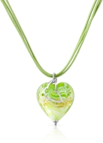 Glass Heart House of Murano Mare - Lime Murano Pendant Necklace