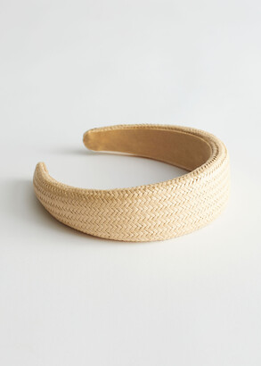 And other stories Woven Straw Alice Headband