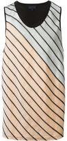 Lanvin diagonal stripe vest