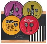 BuySeasons 32ct Wine Time Appetizer Pack with Chalkboard Runner
