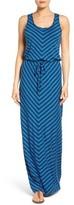 Petite Women's Caslon Drawstring Waist Maxi Dress