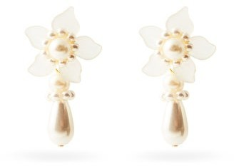 Shrimps Mara Flower Faux-pearl Earrings - Pearl