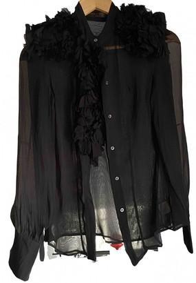 Francesco Scognamiglio Black Silk Top for Women