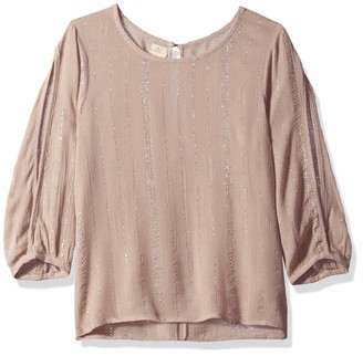 O'Neill Women's Steady On Woven Top with 3/4 Sleeve