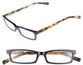 Eyebobs Men's Man Power 50Mm Reading Glasses - Navy With Tortoise