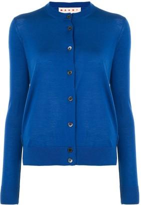 Marni Blue Button-Down Cardigan